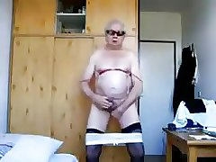 Sexy mature men playing with himself