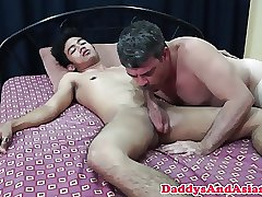 Pinoy twink cocksucking daddy sixtynine