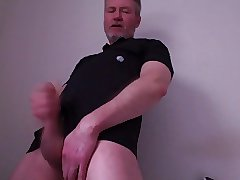 Cumming on my black shirt