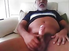 Daddy hot show cock on cam