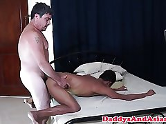 Feet loving daddy pounds filipinos tight ass