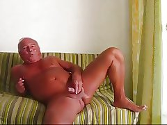 Handsome man has fun at wanking