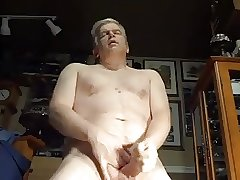 Hot daddy wanking hard