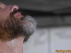 Bearded mature straighty asspounding stud