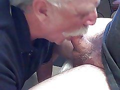 moustache daddy sucking cock