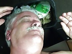 Silver Daddy sucking