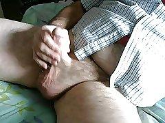 Cum on my leg