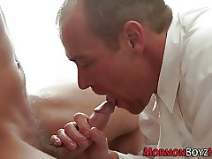 Mormon hunk gets milked