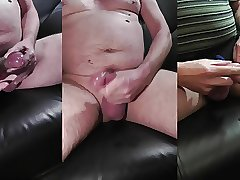 3 cumshots with cockring