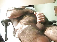 very hairy man cumming