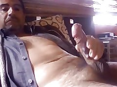 Latin daddy with a fat cock