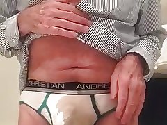 exposed faggot pissing in underpants and then sucking piss