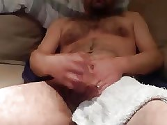 Hunk hairy daddy shooting hard