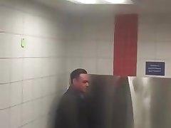 daddy horny at urinal
