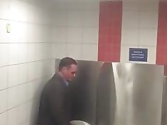 daddy horny at urinal