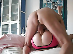 slut boy(Me) pounded by older Daddy with Big cock bareback!