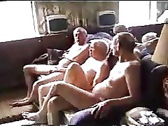 Old men orgy