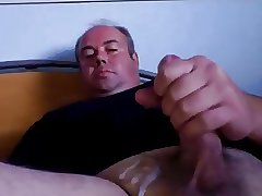 Sexy daddy having a nice cum