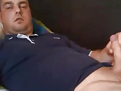 Hot daddy shooting hard