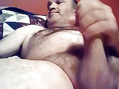 Daddy bear wanking
