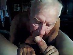 Grandpa sucking!