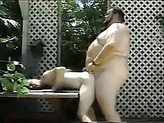 Chubby in garden play