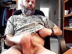 Daddy bear with cum
