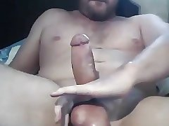 Stoky dude stroking and cumming
