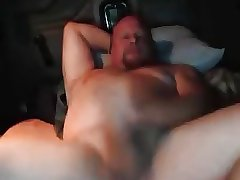 Hot married daddy wanking