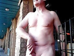 My wank & cum outdoor