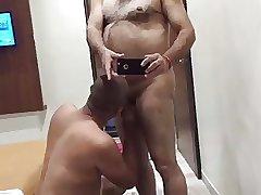 Hot school principal getting blow job