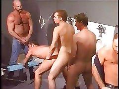 orgy in public toilet