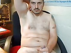 Handsome daddy with nice cock cumming