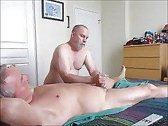 Stroking And Sucking Another Hot-Waxed Wad From Farmer K.