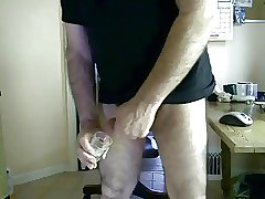 Big dick silver daddy bear cumming