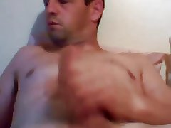 Hot daddy cumming hard