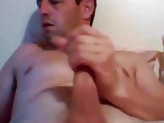 Hot daddy cumming hard
