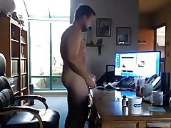 Daddy wanking watching porn