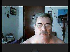 argentinian grandpa show his cock