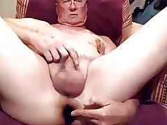 Grandpa Dildo & Wanking Cums