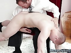 Spanked mormon spunks