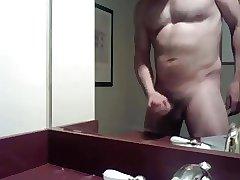 I was too horny in hotel bathroom 1