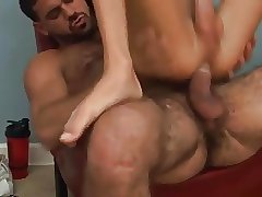 Hairy Muscle Daddy Fucks & Gives Amazing Facial To Boy