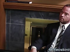 Bound gay mormon elder