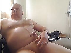 Bald Dad Cums