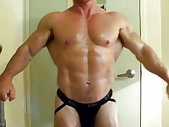 MUSCLEDAD IN BLACK JOCK