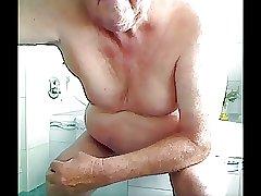 grandpa play with a dildo