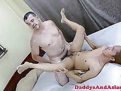 Top bear toying asian twinks tight ass