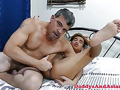 Bonded asian twink tickled and toelicked