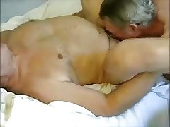 senior guys massage and sucking